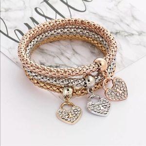 Jewelry - 3 Piece Bracelet w Charm